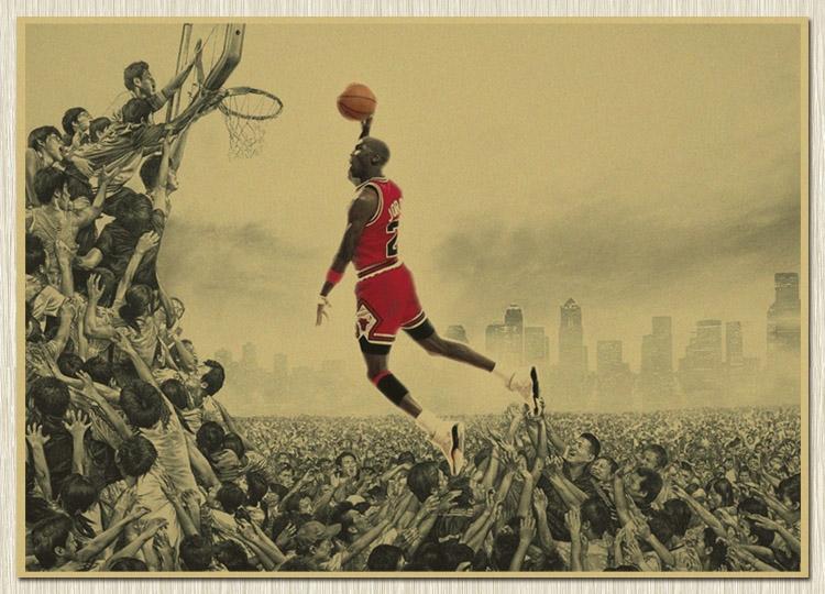 Chicago Bulls Michael Jordan Basketball Super Star Sport Poster Home decor(China (Mainland))