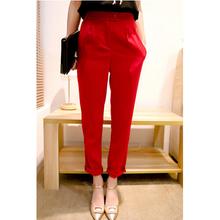 New 2015 Summer Fashion Korean Women Work Wear OL Pants & Capris Casual High Waist Harem Pants Plus Size S-XXL SP062(China (Mainland))