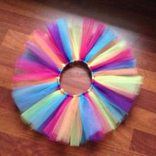 Hot Europe Baby Skirt Pure handmade tutu skirts rainbow skirt for girl  Free Shipping(China (Mainland))