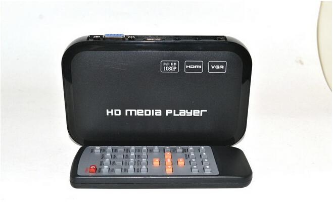 High Quality USB Full HD 1080P HDD Media Player HDMI VGA MKV H.264 SD sample 1 pcs 1pcs(China (Mainland))