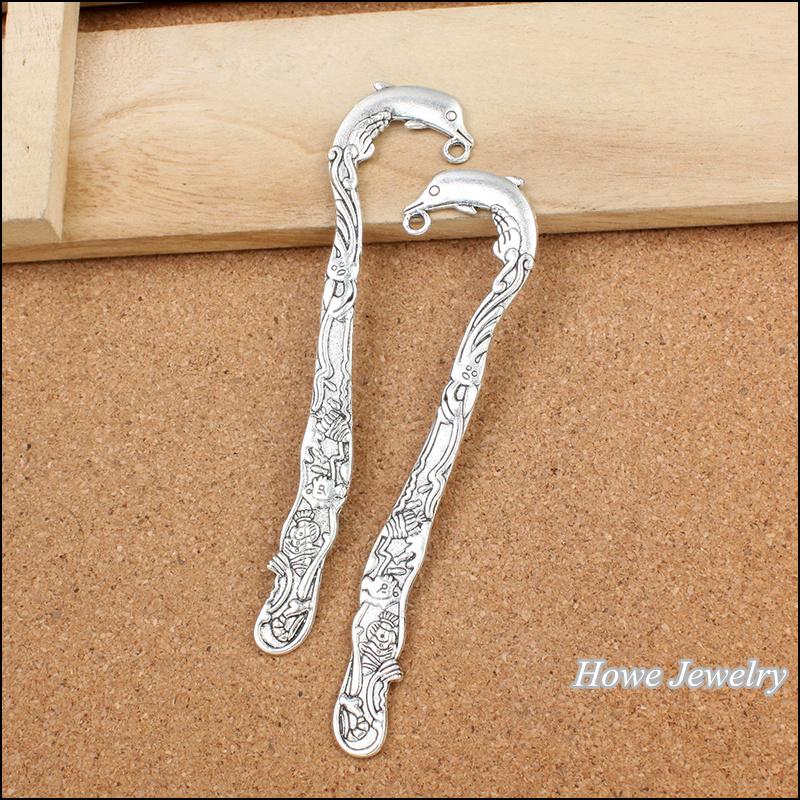 Wholesale30pcs Tibetan silver bookmark Charm necklace pendant fits bracelet handmade fashion jewelry accessories(China (Mainland))