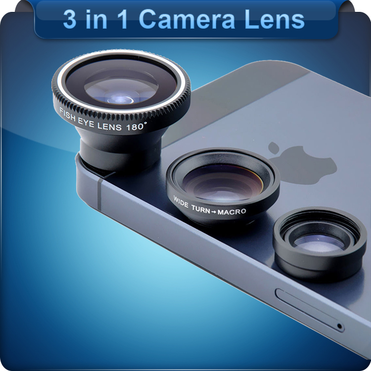 Объектив для мобильных телефонов 3 in 1 3 in1 Fisheye + + iPhone 6 4s 5s, Samsung S5 3 Xiaomi Meizu 4 3 in 1 camera lens momax x lens 4 in 1 120 degree wide angle 15x macro lens 180 degree fisheye cpl filter for smartphone tablet silver