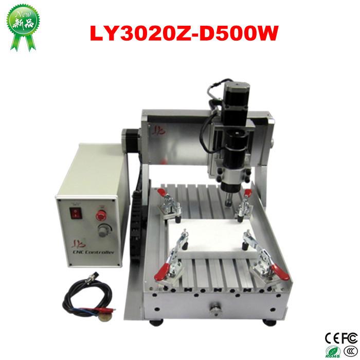 Быстроходный деревообрабатывающий фрезерный станок LY ! cnc cnc 3020 500W, + 4 3020 Z-D 500W 3axis no tax cnc router lathe 3020 z d300 cnc router engraver cnc milling machine with usb adapter for wood carving