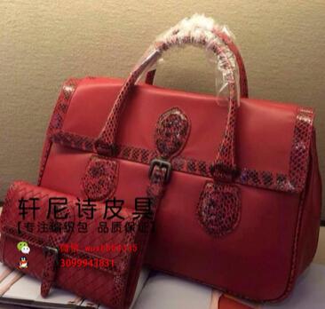 2015 new European style bag ladies handbag python with sheepskin woven bag(China (Mainland))