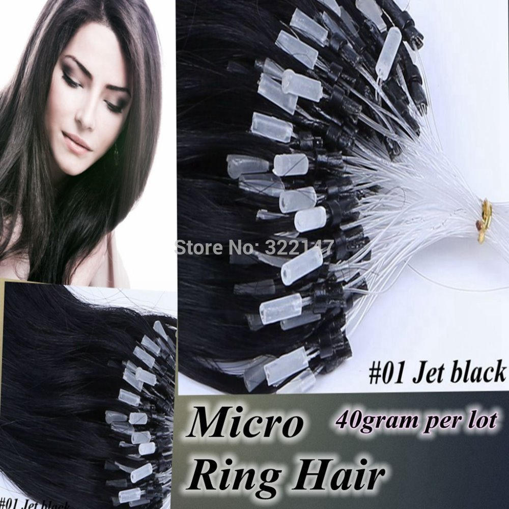 Other 5 16/40 100S 0,4 g/s 40 g/#01jet Natural Hair Extension