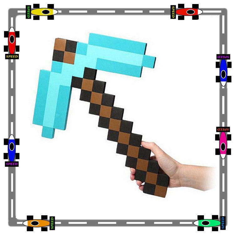 Minecraft Diamond Pickaxe And Sword Crossed Sword Diamond Pickaxe Foam