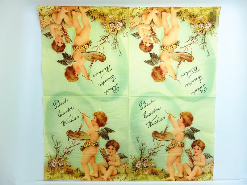 20pcs/pack Vintage Paper Napkins Decoupage Wings Angels Paint Art ...
