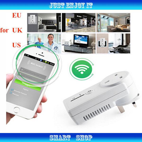 802.11b/g/n Free App software Smart socket EU-Plug UK-Plug EU-Plug Wireless Switch Wifi Remote Control Power Socket n7(China (Mainland))
