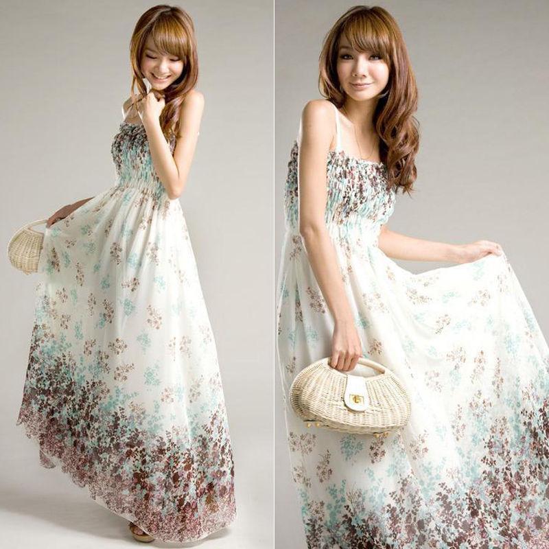 Женское платье BRAND 2015 Sommer lang Kleid FZ-002254 женское платье lang lang s foreign trade c5 15 0 2