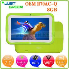Justgreen R70AC-Q Quad Core Kid Children Tablet PC 7 inch RK3126 Android 4.4 512MB RAM 8GB ROM Kids Games Camera WIFI 1024*600