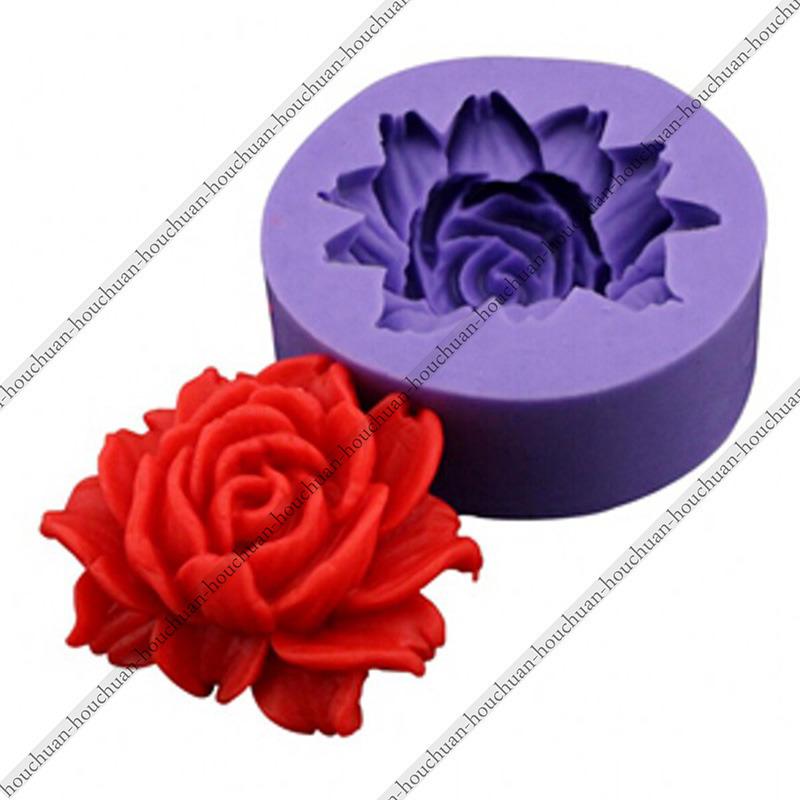 MINI 3D Rose Flower Shape Fondant Chocolate Sugarcraft Wedding Cake Cupcake DIY Decorating Baking Silicone Mold Cooking Tools(China (Mainland))