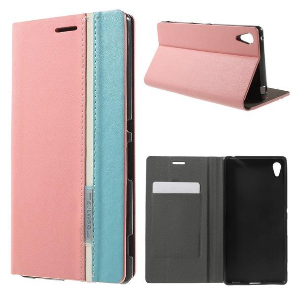 Для Sony Xperia Z4 Случае Высокое Качество двухцветный Держателя Кожаный Card Case для Sony Xperia Z4 чехол для sony xperia z4 compact deppa air case red