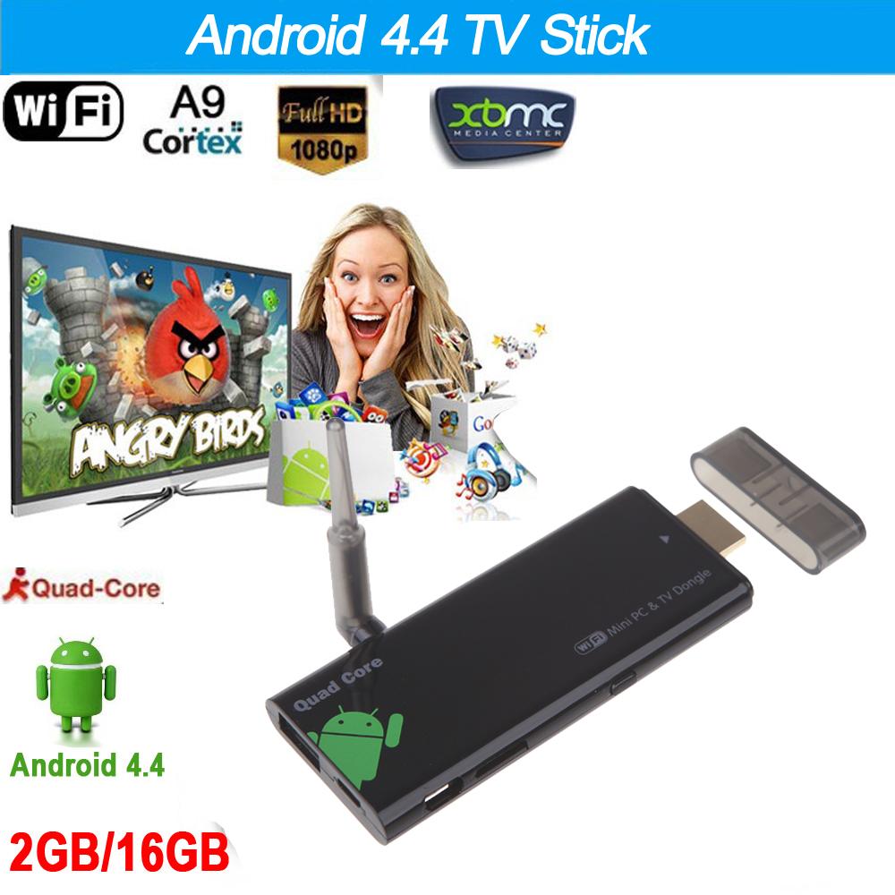 TV Stick OEM DLAN 2G /16G CX919 4.4 TV Stick XBMC Bluetooth 4.0 WiFi 1080P /android tv stick desheng 2 4g