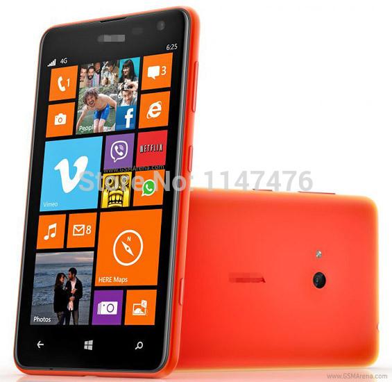 "Free Shipping Original Lumia 625 mobile phone 4.7""Touchscreen Dual core 8GB ROM 512M RAM Microsoft Windows Phone 8 OS(China (Mainland))"