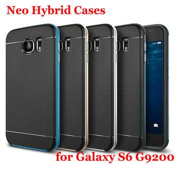 Новые нео силиконовый чехол для Samsung Galaxy S6 G9200 чехол гибридный чехол тонкий S6 жесткий броня мобильный телефон сумки аксессуары