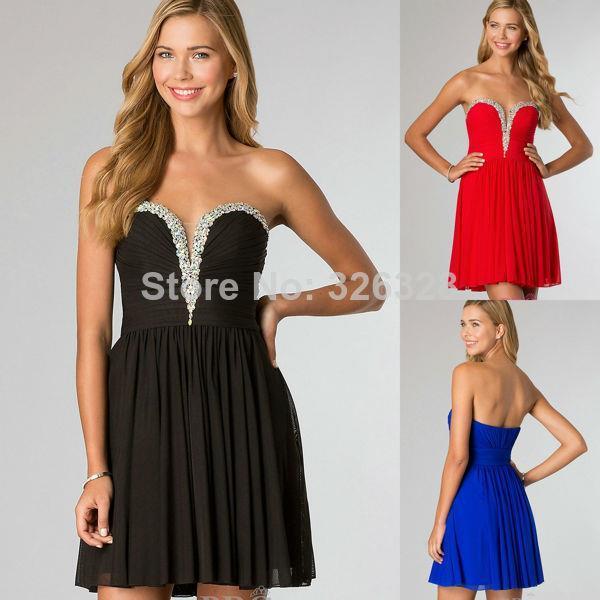 Коктейльное платье Prettycolor Royal Blue 7.7-06