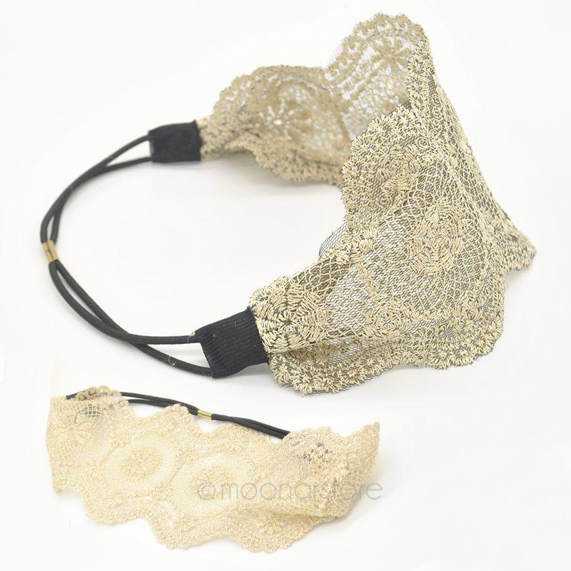 US/UK/ES/GB STOCK! Fashion Women Girls Hollow Lace Flower Headband Retro Hair Band Wide Head Wrap Accessories X{YY}MPJ015#S1(China (Mainland))