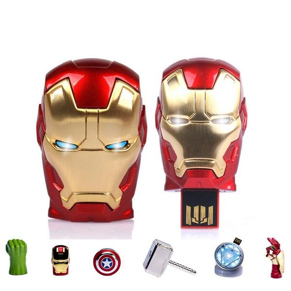 Avengers Iron Man Usb Flash Drive 128GB 1TB Memory Sticks Pendrive 512GB Pen Drive 32GB 64GB Memoria USB Creativo Gift Gifts(China (Mainland))