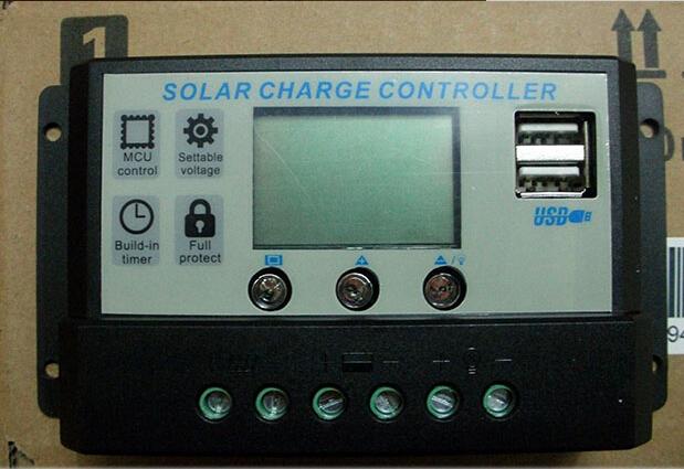 Солнечный контроллер GREEN SOLAR 12/24V 10 5v USB SDY1024 12v 24v 40a mppt pwm solar regulator with lcd display usb intelligent streetlight three time solar charge controller y solar