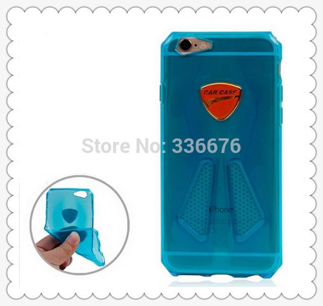wholesale cheap sport Car Style Transparent TPU Case for iPhone 6 Plus 100pcs/lot(China (Mainland))
