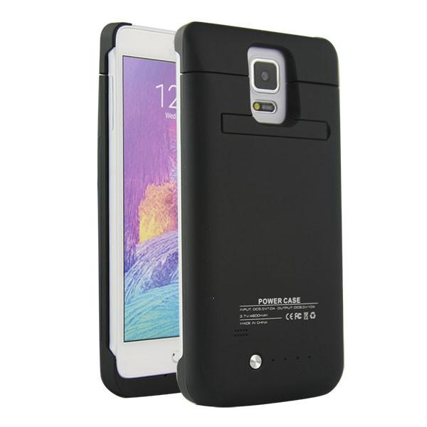 4800mAh USB Portable Backup External Battery Charger Power Bank Case Carcasas w/ Handsfree Kickstand for Samsung Galaxy Note 4(China (Mainland))