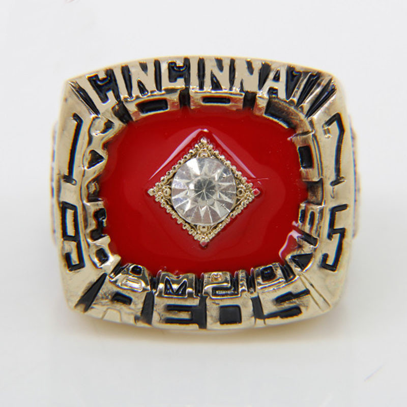New Arrival Rings 18k Gold 1975 Cincinnati Reds World Series Championship ring Replica size 11,Gift Rings for men(China (Mainland))