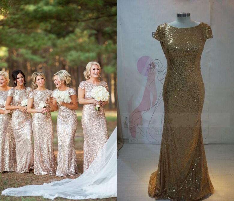 Bridesmaid Dresses Rose Gold 116