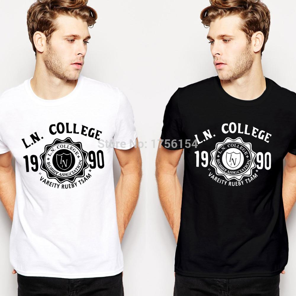 College Shirt Font L.n College t Shirts Men