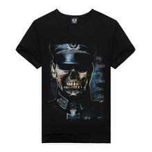 Men 3D T-shirt Cotton Men 3D Police Shirt Short Sleeve Brand New 2015 Printed Men Casual tshirt male XXXL Designed Shirts Tops