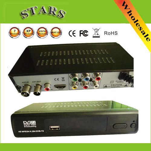 Mini DVB T2 DVB-T Set Top TV Box 1080P TV tuner Full HD Digital MPEG4 DVB-T2 DVB T/H.264 Terrestrial TV Receiver w/ RCA / HDMI(China (Mainland))
