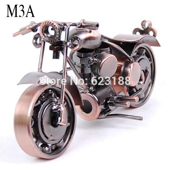 Zakka Art.Harley Iron Motorcycle Model.Metal die cast metal motorcycle model.Hundred percent pure handmade.16 Styles.(China (Mainland))
