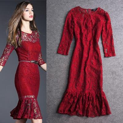 Vestidos mujer. 2015.Women's leisure style.That dresses. A mermaid dress.Bud silk dress.ladies dress(China (Mainland))