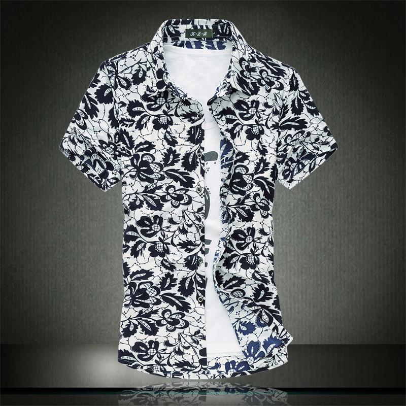 Shirt Tuxedo Print Floral Print Dress Shirt