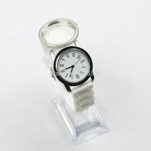 2015 Fashion screw floating locket watch Watch Silicone Women Quartz Watches enamel floating locket watches(China (Mainland))