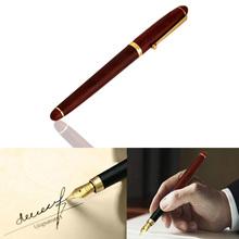 Hot Sale 0.5mm Red Rosewood Wooden Medium Iridium Nib Fountain Pen For Gifts Decoration Writing Office Student Teachers  (China (Mainland))