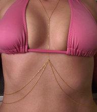 Luxurious Sexy Body Chain Double Layer Waist Chain Silver Gold Color Beach Bikini Fashion Body Jewelry