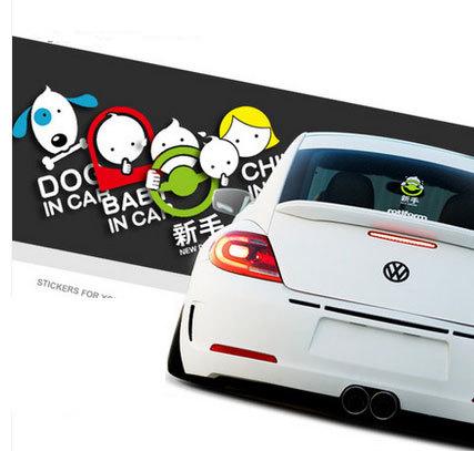New Driver Sticker 3d Cartoon