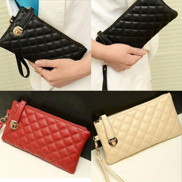 Fashion Women Zip PU Leather Clutch Case Lady Long Handbag Wallet Purse LY 4