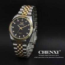 Best Couple New CHENXI Steel Band quartz watch men and women watches fashion lovers watches Women