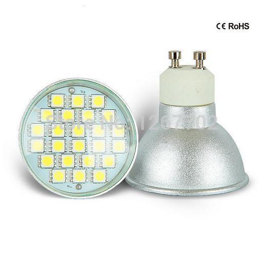 AC 240V 3W GU10 LED SMD Bulbs Spot Light High Power Day / Warm White(China (Mainland))