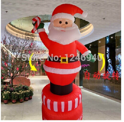 christmas Inflatable Santa Claus 1.8 meters can rotate hotel market activity decorate adornment decorate Christmas activities(China (Mainland))