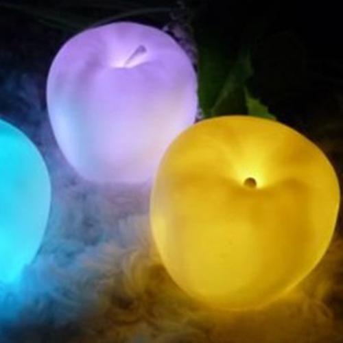 7 Color Change Apple Shaped LED Xmas Mood lamp Night Light(China (Mainland))