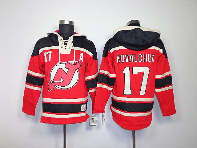 Cheap!Wholesale brand sport fashion jerseys ice Hockey NHL New Jersey Devils #17 Ilya Kovalchuk Red Black hockey Free shipping(China (Mainland))