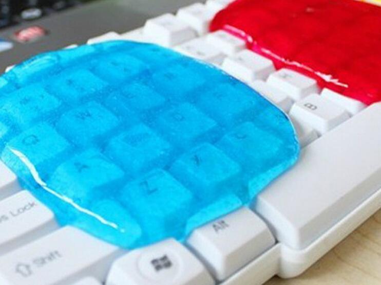 New 2015 Soft Sticky Clean Glue Gum Silica Gel Car PC Keyboard Dust Dirt Cleaner (China (Mainland))