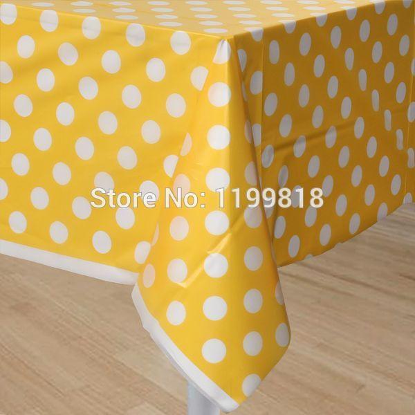 50 pcs en plastique nappe polka dot design rectangulaire - Linge de table design ...