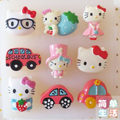 Free shipping Super of pirates hello Kitty cartoon car silicone mold jelly pudding chocolate mold(China (Mainland))