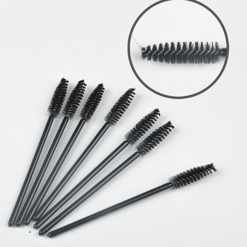 NEW SIMLPLE STYLE 50 pcs/Set One-Off Disposable Eyelash Brush Mascara Make Up Tool Wands Lash Curler(China (Mainland))