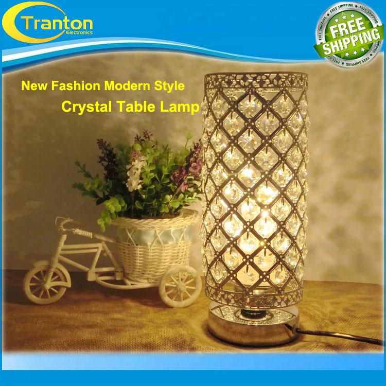 E27 LED high-grade decorative Crystal table lamp Bedroom Lampshade Decoration bedroom bedside table fashion wedding lighting(China (Mainland))