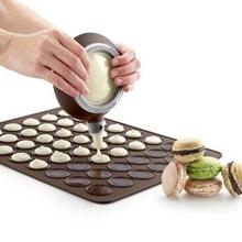 Práctico 30-cavidad del silicón pastelería Cake forma Macaron horno molde para hornear molde de pastelería hoja Mat envío gratis(China (Mainland))