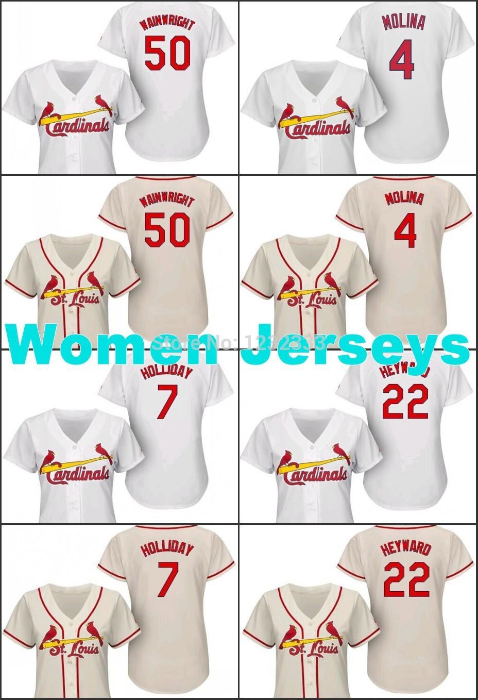 где купить  Anti-Pilling,Anti-Shrink,Anti-Wrinkle,Breathable 50 , 7 , 4 Yadier , 22 women jersey  по лучшей цене